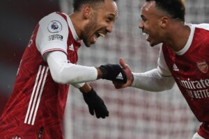 Pierre-Emerick Aubameyang is the third player in Premier League history to score a hat-trick on Valentine's Day