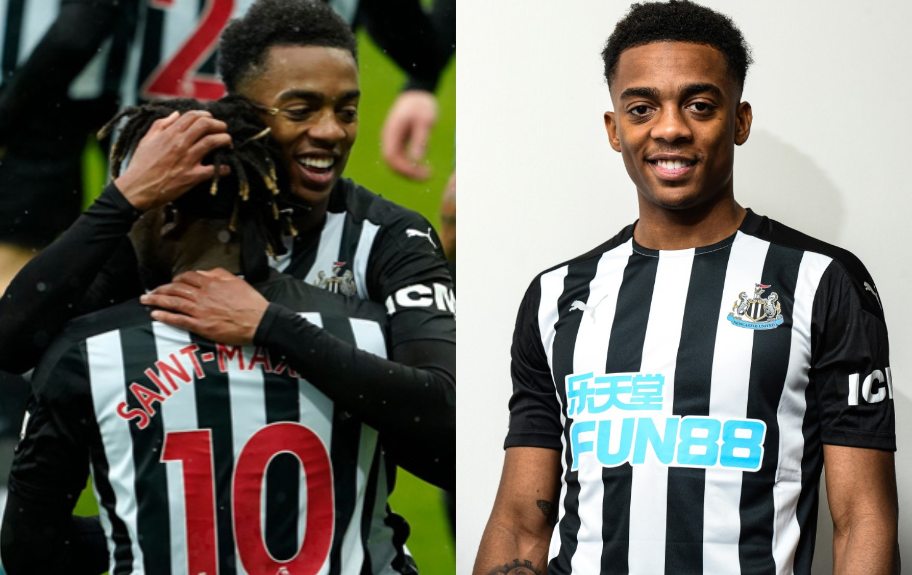 Joe Willock got his Newcastle career off to a dream start
