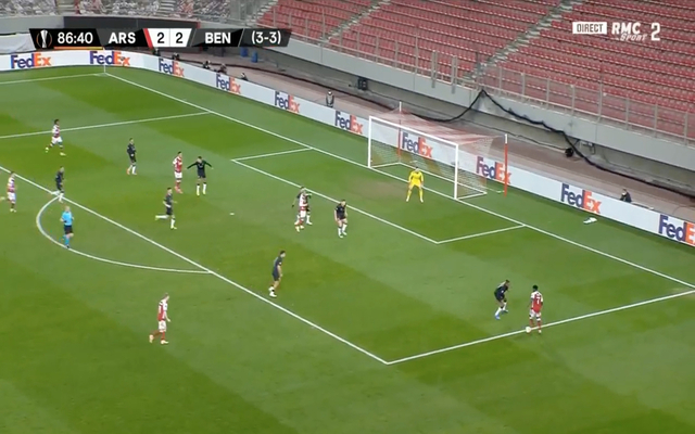 Video: Bukayo Saka shows silky skills to combine with Aubameyang again for late Arsenal winner against Benfica