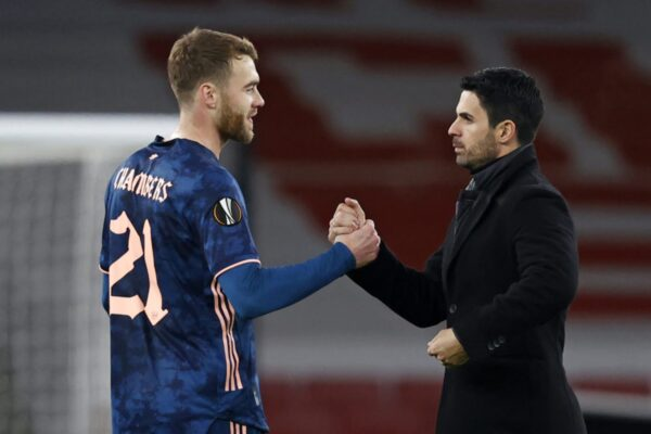 Mikel Arteta explains Calum Chambers' current situation