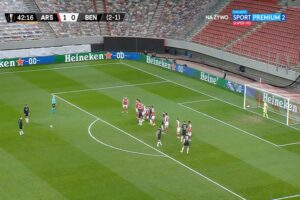 Video: Diogo Goncalves stuns Arsenal with wonderful free-kick for Benfica to leave Europa League level