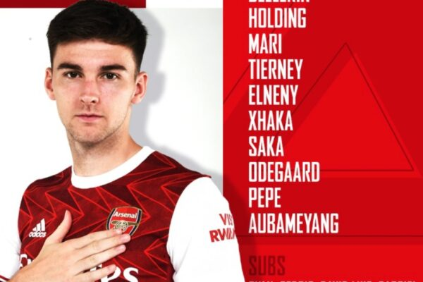 Arsenal and Man City name their starting XIs for Emirates clash