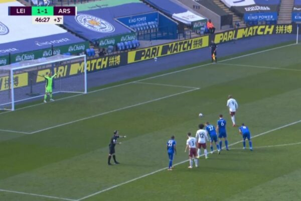 Video: Alexandre Lacazette puts Arsenal in front right on half time