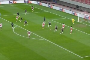 Video: Brilliant Kieran Tierney comes up with a huge goal for Arsenal to drag them back into the game vs Benfica