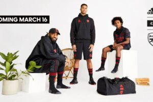 Arsenal and adidas present a limited-edition collection in collaboration with LA streetwear brand 424, dropping March 16