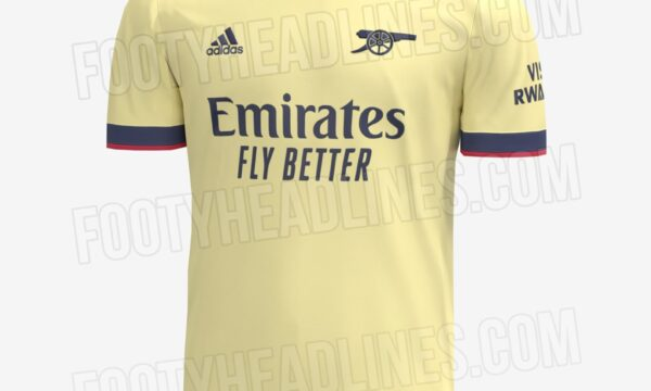 Leaked Arsenal away jersey for the 2021/22 season