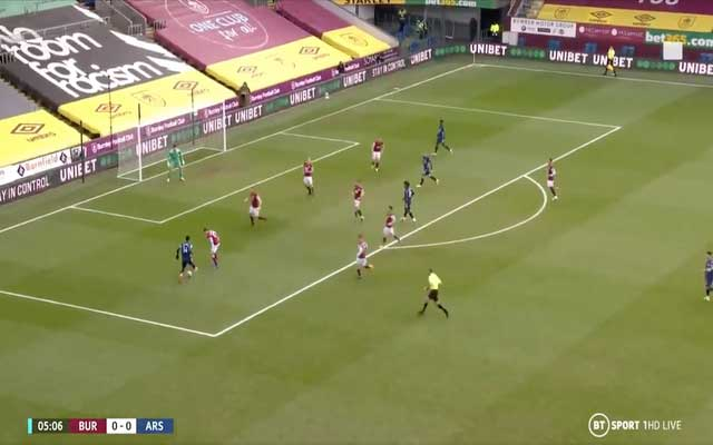 Video: Aubameyang dupes two Burnley defenders with stepovers to score for Arsenal after Willian drives forward