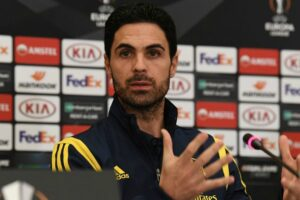 Mikel Arteta on whether Arsenal are their 'own worst enemy' after nervy ball play in defence in win against Olympiacos
