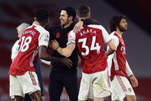 Arteta reacts as Arsenal come from behind to win 'incredible' North London derby