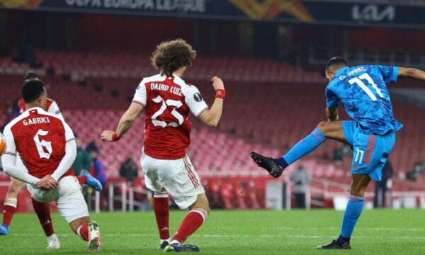 Match Report: Arsenal 0-1 Olympiacos (3-2 agg): Beaten Gunners scrape into Europa League quarters