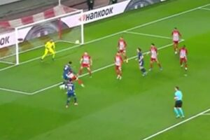 Video: Incredible looping Gabriel header puts Arsenal in front against Olympiacos