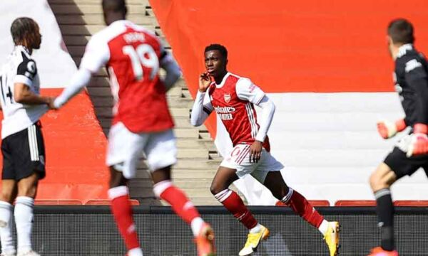 Match Report: Arsenal 1-1 Fulham - Nketiah grabs dramatic equaliser to nudge Cottagers closer to the drop
