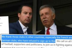 Stan Kroenke wants to make Arsenal 'biggest team in the world' with European Super League participation