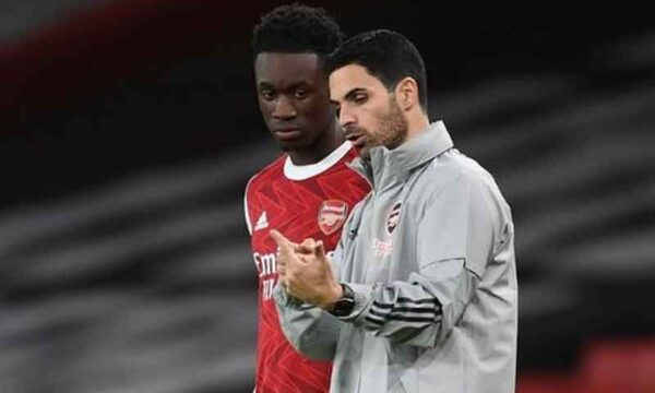 "Arteta says Balogun will be ""pushing anybody in our first team"""