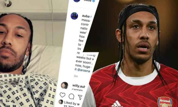 Aubameyang has malaria, provides update on his health in Instagram post