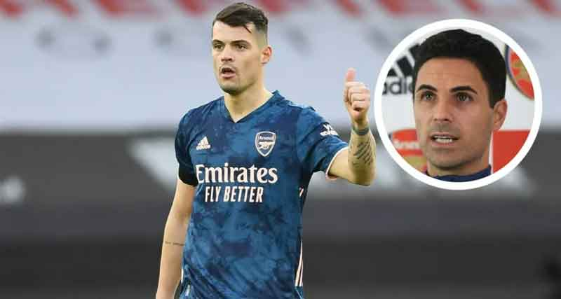 'Good thing with Granit is he can play in different positions': Arteta rates Xhaka's chances of playing as left-back vs Slavia Prague