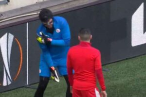 Horrible injury luck continues for Slavia Prague as keeper dislocates his shoulder ahead of Arsenal clash
