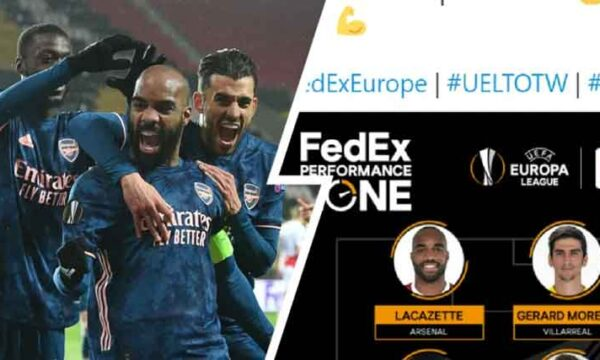 Nico-Laca-Saka going strong: 5 Arsenal players named in Europa League Team of the Week