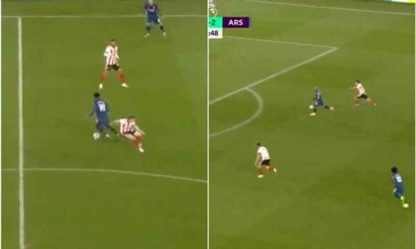 Thomas Partey assists Arsenal goal with flawless dummy and pass as Alexandre Lacazette makes no mistake to secure brace vs Sheffield