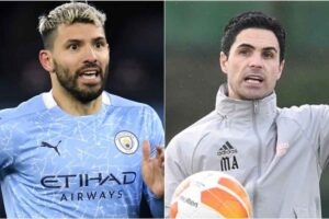 Mikel Arteta responds to surprise suggestion Arsenal could sign Sergio Aguero