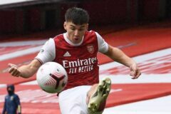 Lacazette and sharp Tierney seen in Arsenal training ahead of Villarreal semi