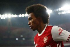 What a free kick from Willian for his first ever Arsenal goal