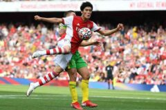 Arsenal finally get the first win on the board despite nervy performance
